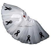WHITE Awareness Tutu SHORT