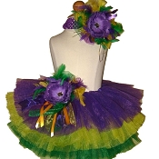 Birthday Tutu Mardi Gras . INFANT to 6X