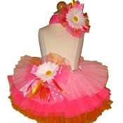 Birthday Tutu Pink Orange