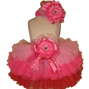 Birthday Tutu Pink Red
