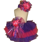 Birthday Tutu Purple Hot Pink