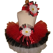 Birthday Tutu Red Black