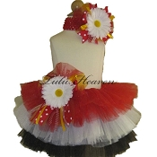 Birthday Tutu Red White Black