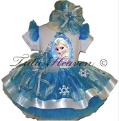 Frozen Elsa Portrait Ribbon Tutu Set