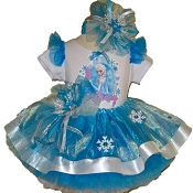 Frozen Elsa Tutu White Ribbon Tutu Set