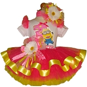 Despicable Me Dancing Minion Ribbon Tutu Set
