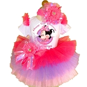 Minnie Mouse Tutu Set Pink Lavender