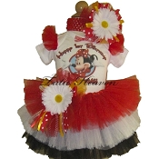 Party Red White Black Tutu Set