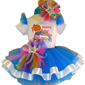 Retro Rainbow Brite Tutu Set