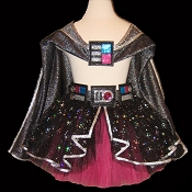 DARK STAR Tutu . Hot Pink . Cape . Belt . 2T to 6X