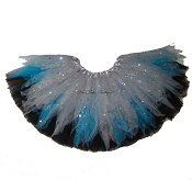 Blue Grey Shredded Sparkle Tutu