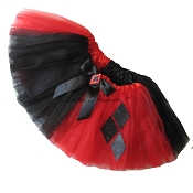 SHORT HARLEQUIN Red Black Tutu