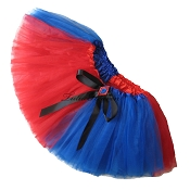 SHORT HARLEQUIN Red Blue Tutu