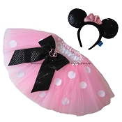 Short Pink Tutu & MINNIE MOUSE Ears