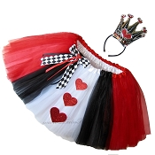 LONG Queen of Hearts Tutu Deluxe