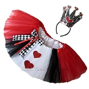 SHORT Queen of Hearts Tutu Deluxe