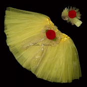Little Girls YELLOW BELL Tutu . INFANT to 6X
