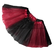Girls to Plus Size Team Spirit Tutu BURGUNDY BLACK