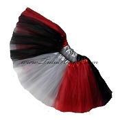 Girls to Plus Size Team Spirit Tutu RED BLACK GREY