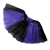 Girls to Plus Size Team Spirit Tutu PURPLE BLACK