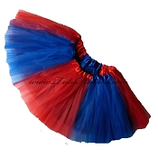 Girls to Plus Size Team Spirit Tutu ROYAL BLUE RED