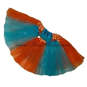 Girls to Plus Size Team Spirit Tutu TURQUOISE ORANGE