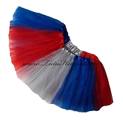 Girls to Plus Size Team Spirit Tutu ROYAL GREY RED