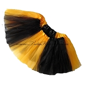 Girls to Plus Size Team Spirit Tutu GOLD BLACK