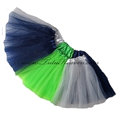 Girls to Plus Size Team Spirit Tutu NAVY GREY LIME