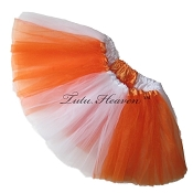 Girls to Plus Size Team Spirit Tutu ORANGE WHITE