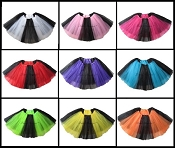 LONG Black Color Block Tutu