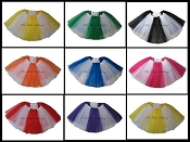 LONG White Color Block Tutu