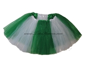 LONG Color Block Tutu White Kelly Green