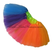 INFANT to 6X . NEON RAINBOW Tutu