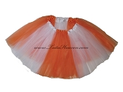 LONG Color Block Tutu White Orange