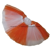 SHORT Color Block Tutu White Orange