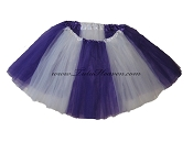 LONG Color Block Tutu White Purple