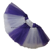 SHORT Color Block Tutu White Purple