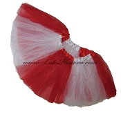 SHORT Color Block Tutu White Red
