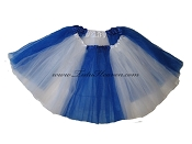 LONG Color Block Tutu White Royal Blue
