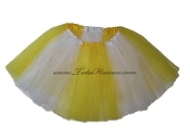 LONG Color Block Tutu White Yellow