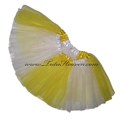 SHORT Color Block Tutu White Yellow
