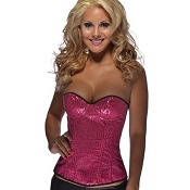Sequin Corset Hot Pink