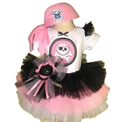Pirate Tutu Set with Top Pink