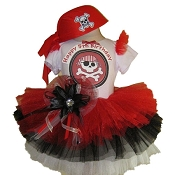 Pirate Tutu Set with Top Red