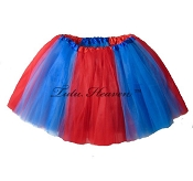 LONG Red Blue Tutu