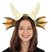 Ivory Dragon Plush Headband