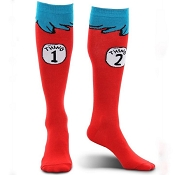 DR.SEUSS Thing 1 Thing 2 Adult Socks