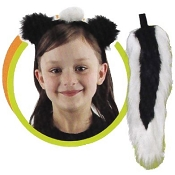 Skunk Ears and Tail
