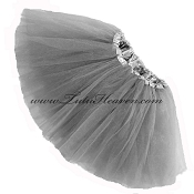 Girls to Plus Size Grey Tutu